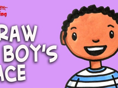 How to draw a Boy's Face - Easy drawing for kids