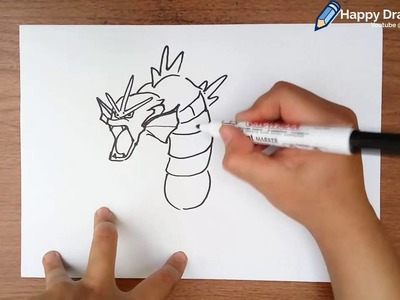 How to Draw Pokemon Gyarados Step by Step