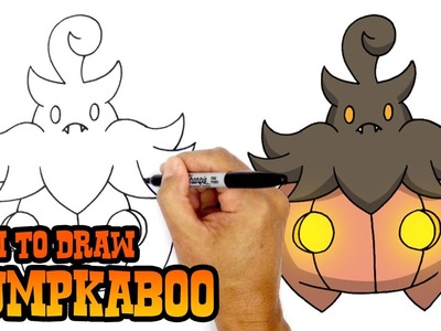 How to Draw Pumpkaboo (Pokemon)- Art Lesson for Kids