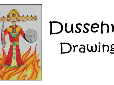 How To Draw Ravana For Dussehra | Dussehra Special 2016 | Festival Drawing For Kids
