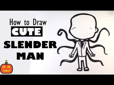 How to Draw Slender man - Halloween Drawings