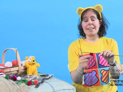 How to knit a scarf for your Pudsey