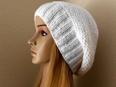 How To Knit A Slouchy Hat, Lilu's Handmade Corner Video # 116