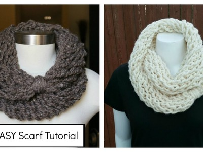 How to Knit an Infinity Scarf in a Couple of Hours, plus meet my kids!