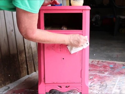 How To Layer And Distress Paint With Vaseline- Furniture Makeover