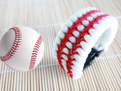 How to Make a Baseball Themed Trilobite Paracord Bracelet Tutorial