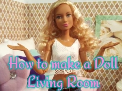 How to make a doll living room