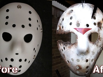 How to Make a Friday The 13th Part 9 Jason Mask - DIY Painting Tutorial