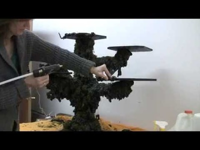 How to make a Haunted Tree for Dept 56 Halloween Village