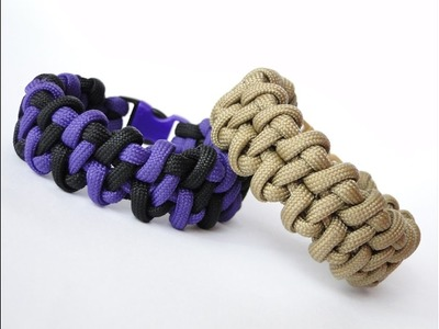 How to Make a Mated Cobra-Fishtail (modified) Paracord Survival Bracelet.One & Two Color