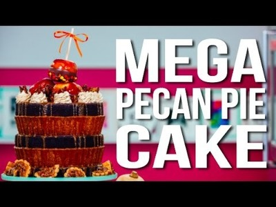 How To Make A PECAN PIE MEGA CAKE! Topped With Double-Dipped Caramel Apples and Spiced Nuts!