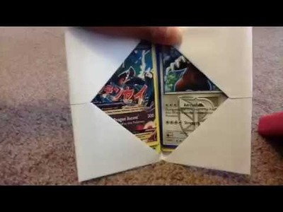 How to make a Pokemon card holder (saves money)