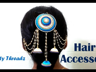 How to make a Silk Thread Hair Accessory at Home | Tutorial !!