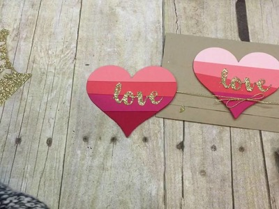 How to make a super simple Love card also inlaid die cutting