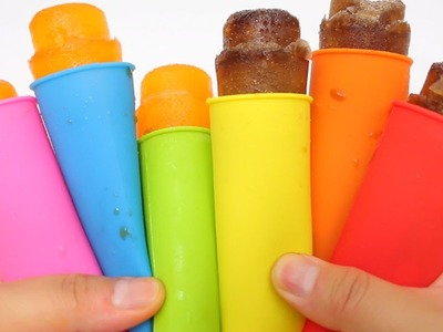 How to Make 'Cola Fanta Blast Ice Pop' Rainbow Milk Stick Ice Cream