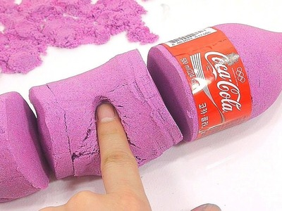 How To Make Colors Kinetic Sand Coca Cola Bottle | Kinder Surprise Toys, Twinkle Twinkle Little Star