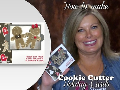 How to make Gingerbread Cookie on a Baking Sheet Christmas card featuring Stampin Up Holiday Catalog