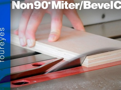 How To Make Miters or Bevels that aren't 90 degrees - Woodworking Tips #02