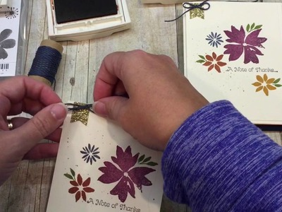How to make one card 4 ways with Stampin UP's Blooms and Wishes Stamp Set