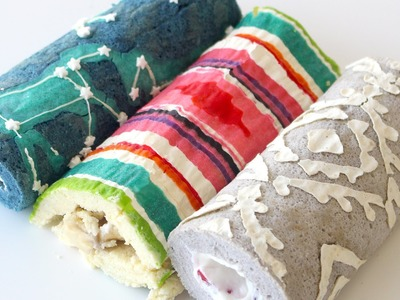 How to Make Pattered Swiss Roll Cakes   RECIPE