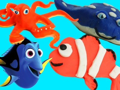 How to Make Play Doh Finding Dory Characters Nemo, Dory, Mr. Ray & Hank!