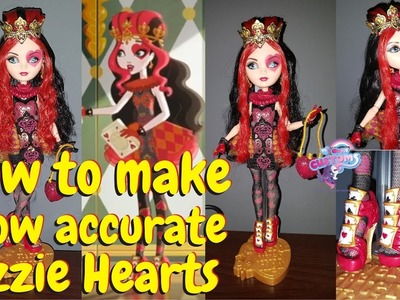 How to make show accurate Lizzie Hearts Ever After High