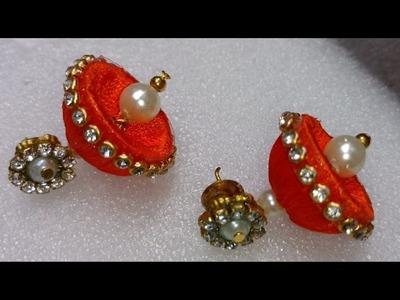 How to make silk thread jhumkas   making silk thread earrings, making earrings for beginners