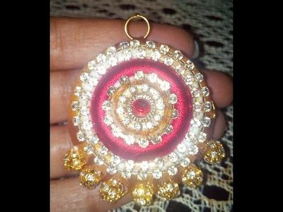 How to make silk thread pendant festival ware