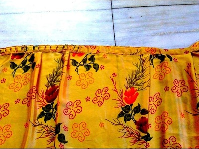 HOW TO MAKE WRAP_ON SAREE. READY TO WEAR SAREE (FINAL PART)