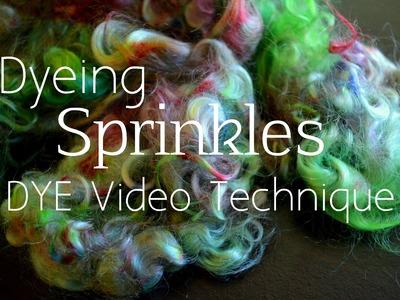 How to Sprinkle Dye Wool Locks