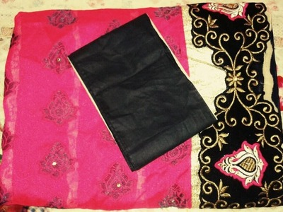 How To Stitch A Fall On The Saree By Ayesha - www.ayeshasworld.com