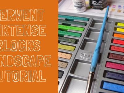 Inktense blocks - mixed media tutorial - how to paint