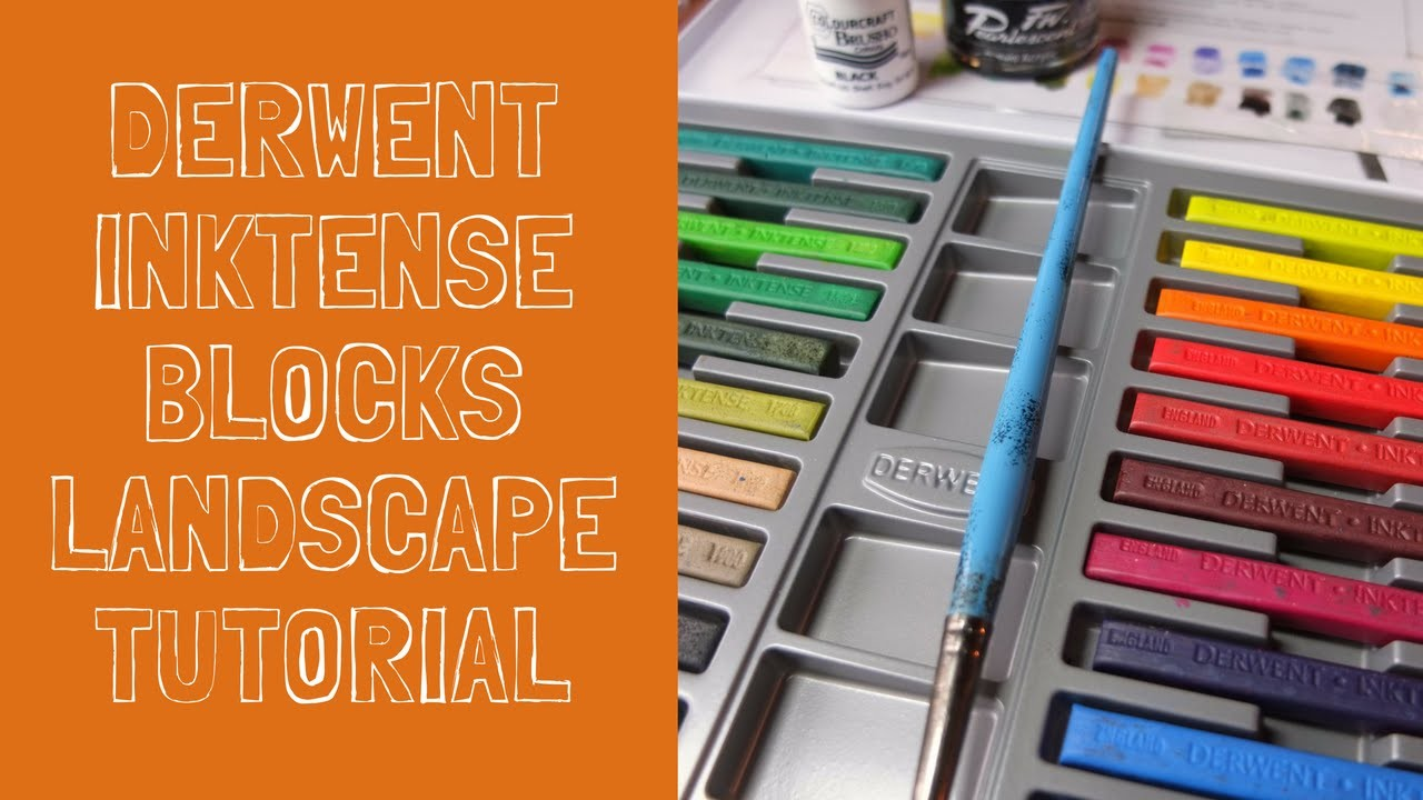 Inktense blocks - mixed media tutorial - how to paint