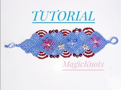 Micro Macrame Sky Bracelet DIY ♥