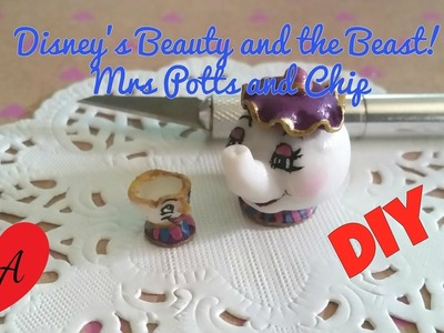 MINIATURE Disney's Mrs Potts and Chip TUTORIAL. DOLLHOUSE. DIY