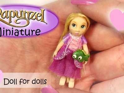 Miniature Rapunzel Inspired Doll Tutorial. DIY Dolls.Dollhouse