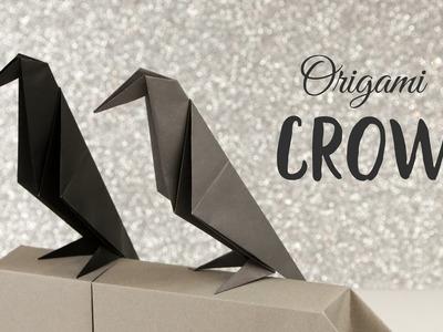 Perching Origami Crow Tutorial ❖ Halloween DIY ❖ Paper Kawaii