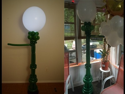 Sesame Street Balloon lamp post Balloon Decoration tutorial  How to make  balloon column with lights