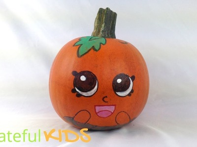 Shopkins Pumpkin-- How to Paint a Shopkin on a Halloween Pumpkin!