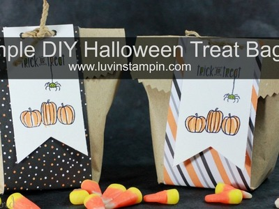 Simple DIY Halloween Treat Bags in 10 minutes