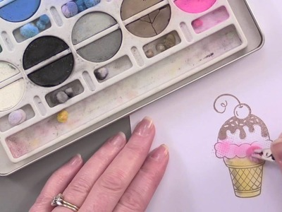 Stamping 101: How To Color Your Stamped Images Using Chalk