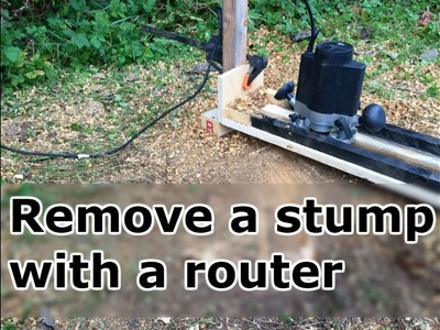 Tree stump removal with a router.