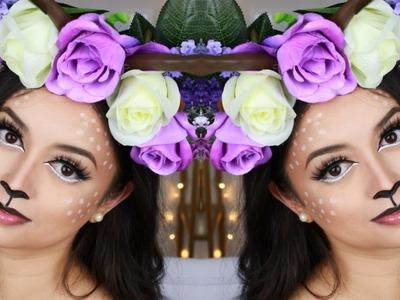 TUTORIAL | Bambi Halloween Makeup + DIY Antler Crown