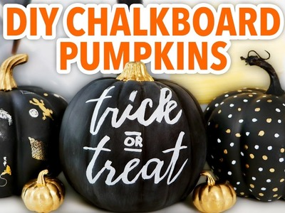 3 DIY Chalkboard Pumpkins ~ Halloween 2016 - HGTV Handmade