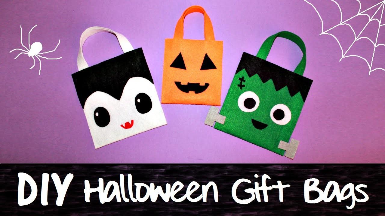 3 DIY HALLOWEEN Gift Bags | Jack-O'-Lantern, Vampire, Frankenstein Monster