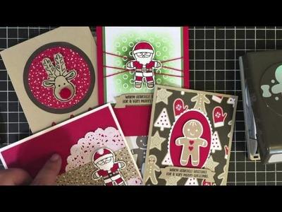 BeautyScraps Stampin' Up! Cookie Cutter Christmas Card Class October 2016