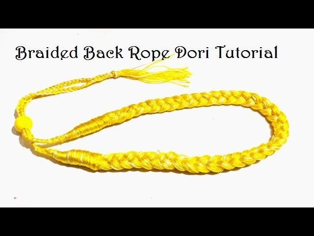 Braided Dori Necklace with Back Rope Tutorial - Easy DIY