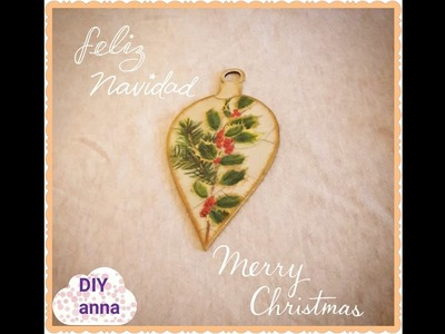 Christmas decoupage shabby chic wooden decoration DIY ideas decorations craft tutorial