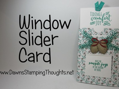 Christmas Pines Window Slider card featuring Stampin'Up!