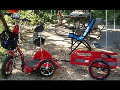 Custom Built DIY - Challenger X Scooter Trailer That Is Just Perfect For Fishing